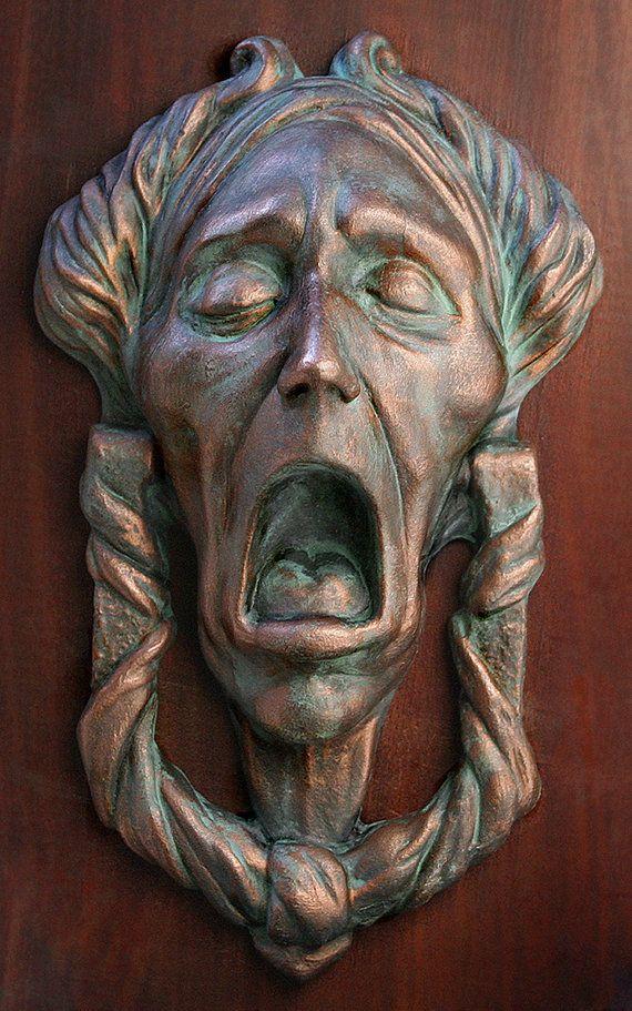 Christmas Carol, Jacob Marley Faux Door-Knocker - Charles Dickens, Scrooge, Victorian, Gothic