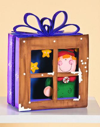 ventanas con personajes para decorar en navidad ms