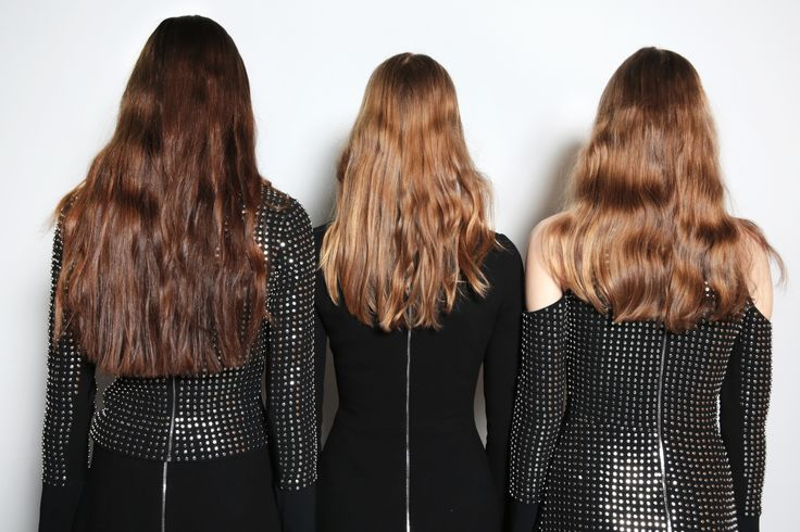 Stephen Low, Neville Salon creates a young, natural look to the hair at David Koma AW16 - by keeping the hair soft and not over worked, with beautiful natural waves.