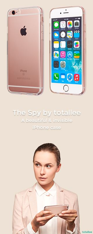The Spy is a slim and transparent iPhone case. Available on www.totalleecase.com