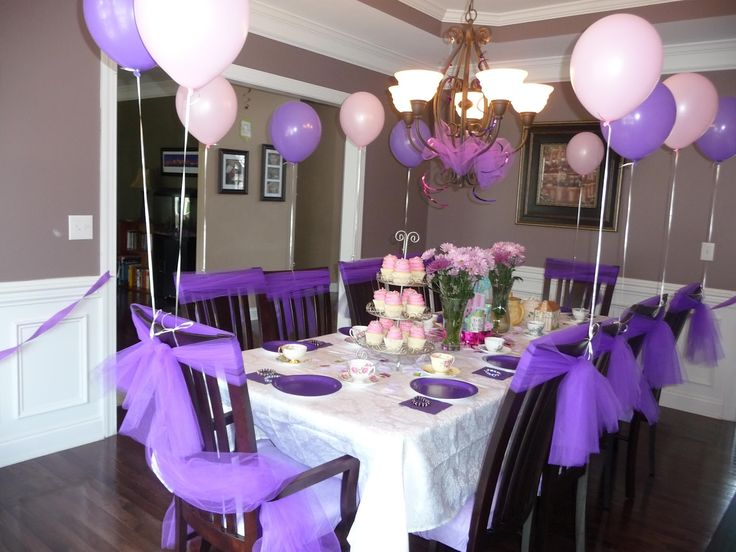 Lavender Table Decorations Trianglemommies Throwing A