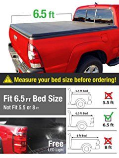 Premium TriFold Tonneau Truck Bed Cover For 97-03 Ford F-150 (NOT Flareside); 04 F-150 Heritage 6.5 feet (78 inch) Trifold Truck Cargo Bed Tonno Cover (NOT For Stepside)