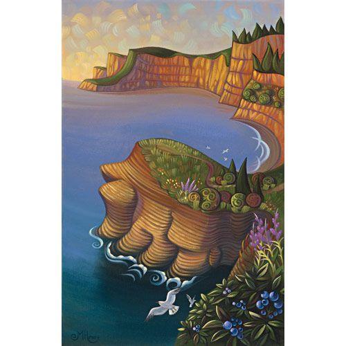 Ocean cliff, Forillon, 2012