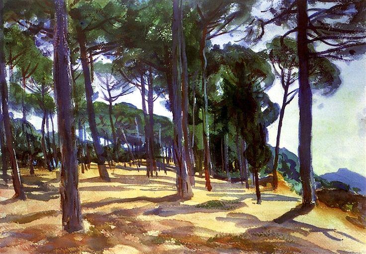 At Frascati, 1907 John Singer Sargent: Sargent was a master! Note by Roger Carrier