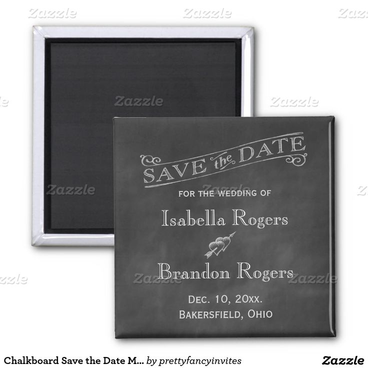 cruise wedding save the date announcement%0A Chalkboard Save the Date Magnet