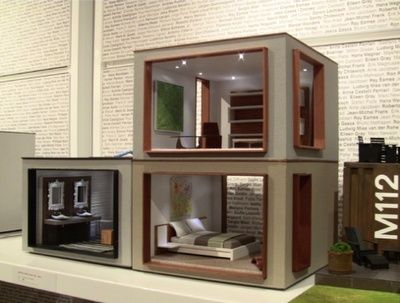 412 best images about miniature modern dollhouses on - Miniature room boxes interior design ...