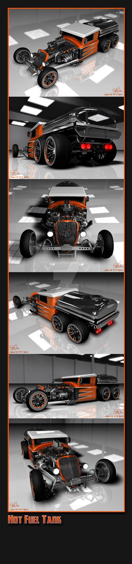 An old customized truck with a fuel tank. Here my template: Thanks Sketcher-from-PVT, that I could use this image!!! Modelled in Rhino, rendered in Cinema 4D. More of this car: