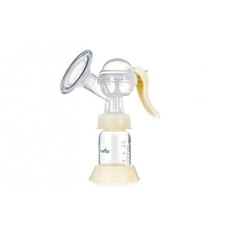 Sacaleches manual de Nuvita:  Extractor de leche manual de Nuvita.  Extracción Suave y eficaz, con bomba manual de extracción de leche con una suave copa de masaje de silicona.