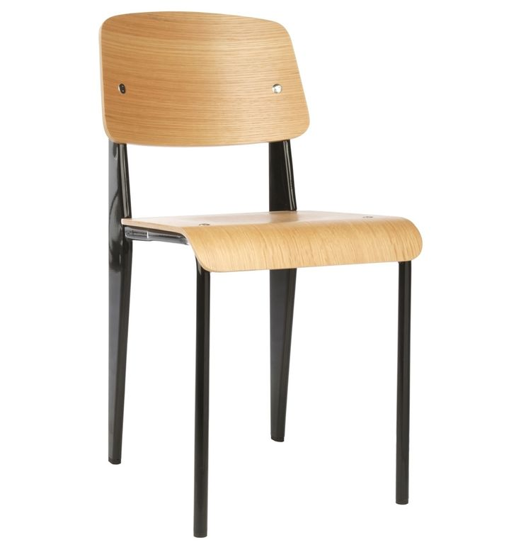 Replica Jean Prouvé Standard Chair - Black - Only $99 Each