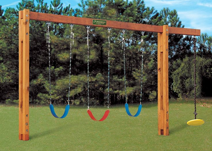 Best 25 kids swing sets ideas on pinterest kids swing - Backyard swing plans photos ...