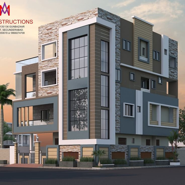 Pin By Dwarkadhish Co On Elevation 3 In 2019: Exteriors And Architectural : Houses By M.a Constructions