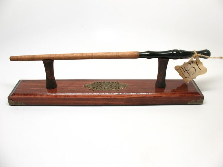 Magic Wand And Magic Wand Stand Holder Display Wizard Wand Wood Witch #1437