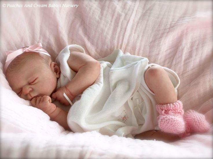 Peaches And Cream Elisa Marx Beautiful Reborn Baby Julie Tummy Plate