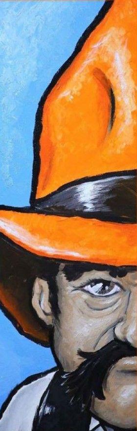 12x36 Acrylic Pistol Pete Painting