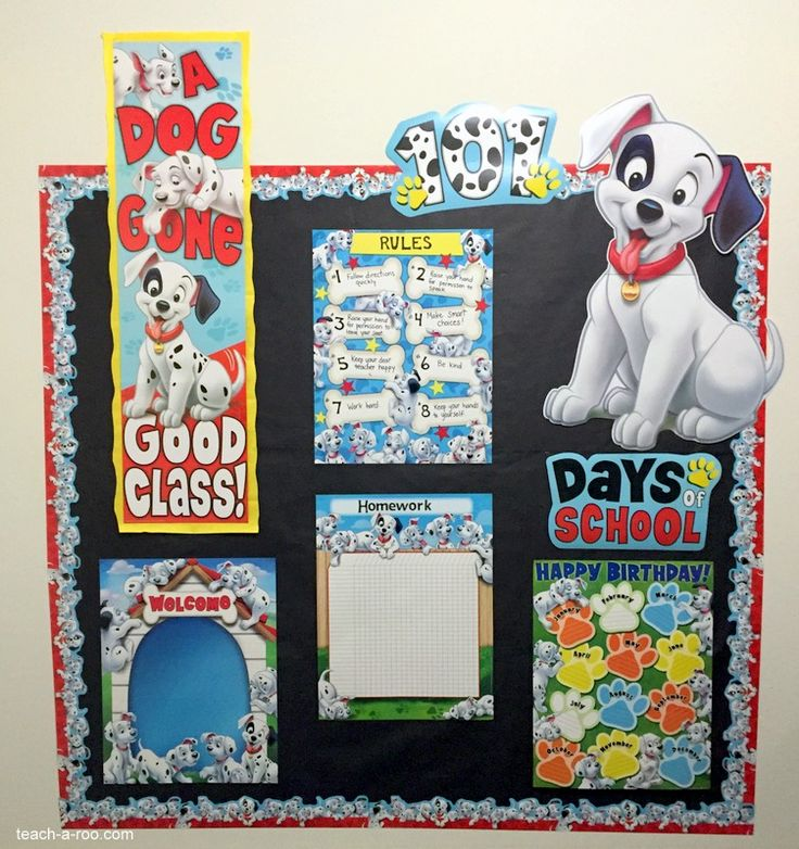 Awesome Disney 101 Dalmatians bulletin board! Great for class management!