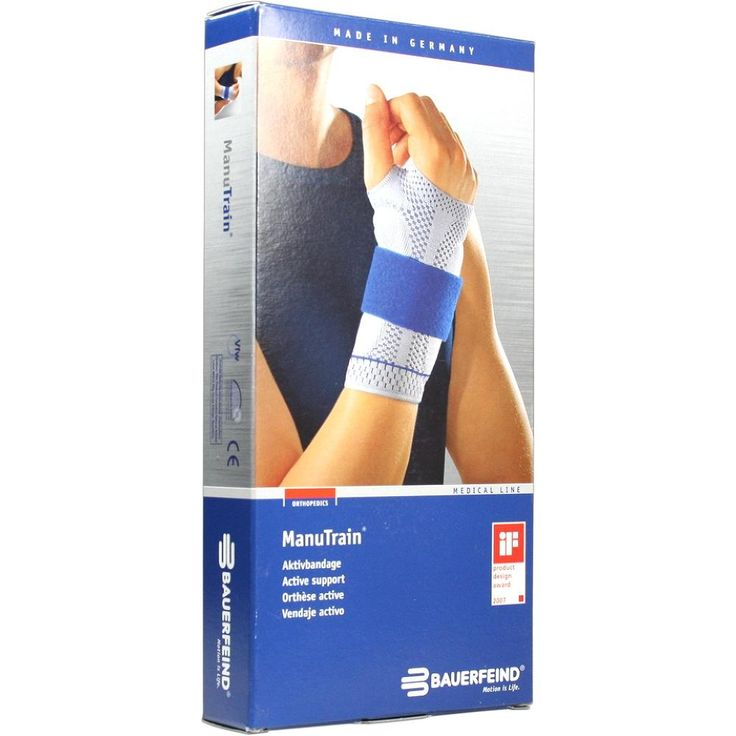 MANUTRAIN Handgelenkbandage links Grösse 1 titan:   Packungsinhalt: 1 St Bandage PZN: 01285950 Hersteller: Bauerfeind AG / Orthopädie…