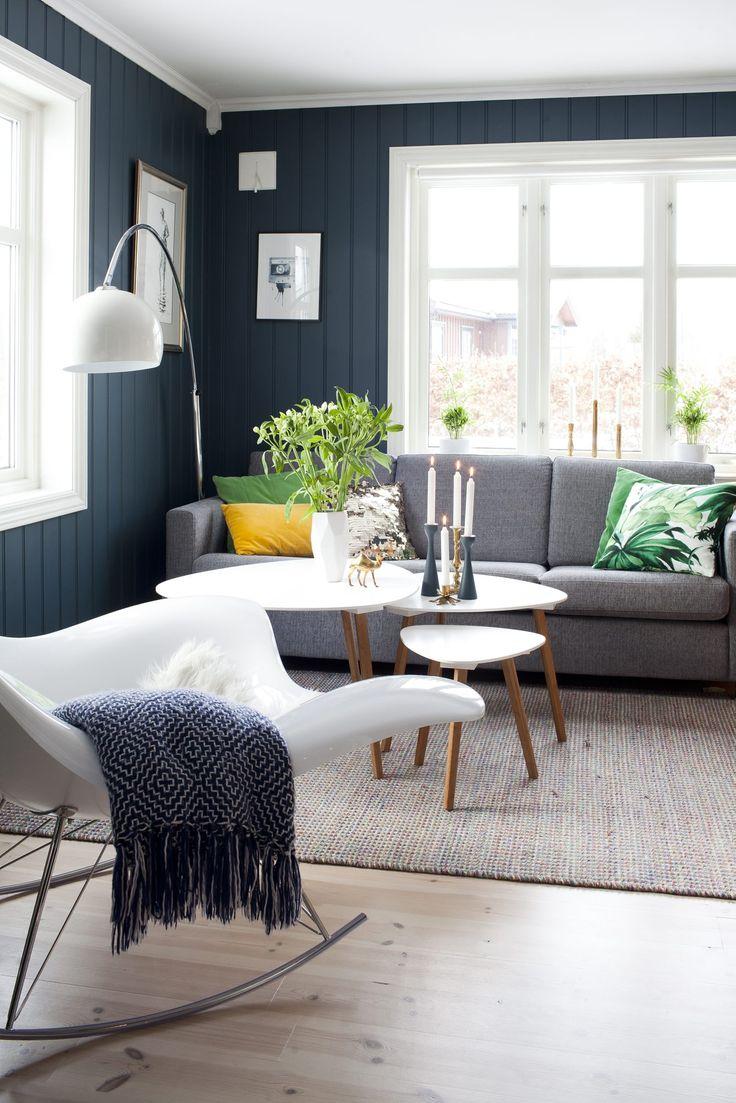 Fargen Oslo på stuevegg