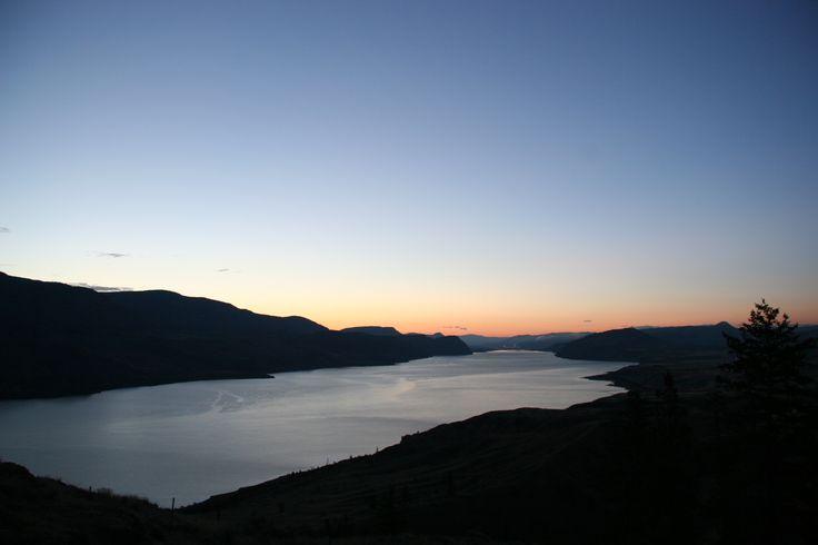 Kamloops Lake (6am), Kamloops BC, Canada. September 2014,