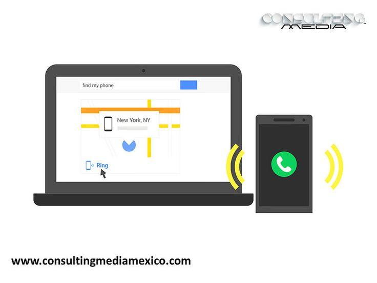MIGUEL BAIGTS. Google ha desarrollado una aplicación para Android llamada Find my Phone (Encuentra mi teléfono) donde los usuarios podrán localizar sus smartphones solo con realizar una simple búsqueda a través del buscador buscador de google. #miguelbaigts