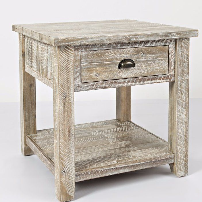 Chiara End Table With Storage Rustic End Tables End Tables With Storage End Tables