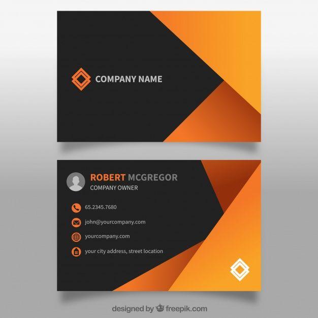Scarica Gratis Biglietto Da Visita Astratto In Arancione Business Card Design Creative Graphic Design Business Card Business Cards Creative