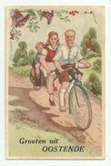 Oostende  *   Groeten uit Oostende (vélo - bicyclette - bicycle - tandem) | For sale on Delcampe