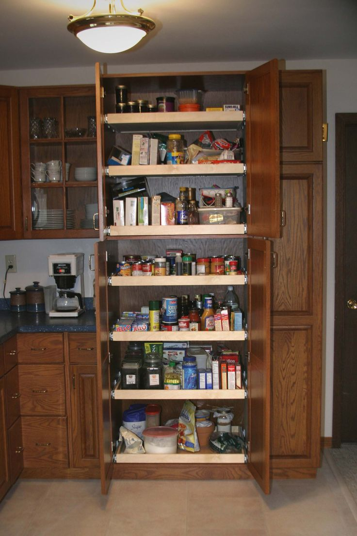 Kitchen cabinets pull out pantry pantry this pantry is for Kitchen cabinets 36 inch