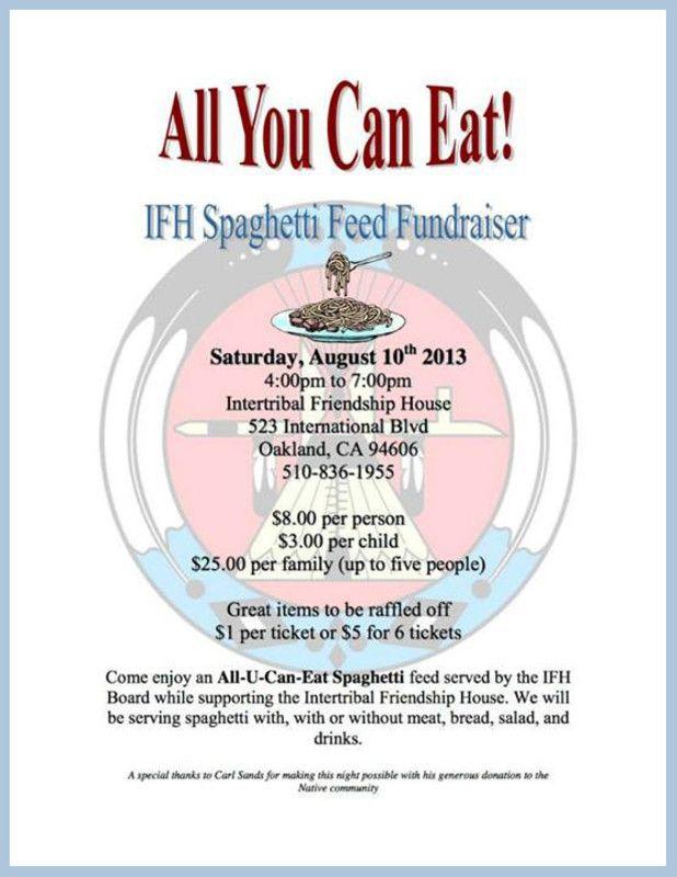 Oakland Ca Ifh Spaghetti Feed Fundraiser Yes Community Friends