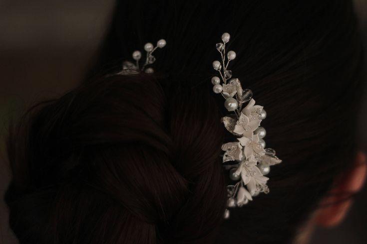 Elisa| Wedding hair accessories,Bridal headpiece,Wedding hair comb,Wedding hairpiece,Wedding hair pins,braut haarkamm,peigne cheveux mariage