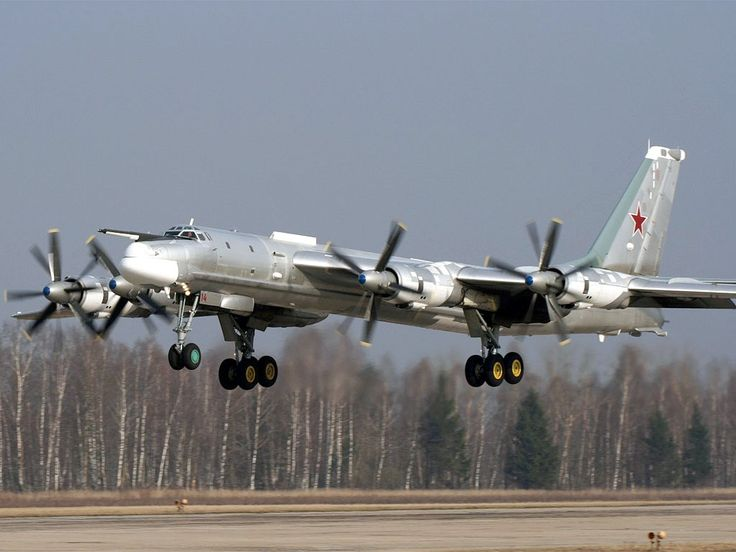 Tupolev Tu-95. I can't believe they still fly these old bastards.