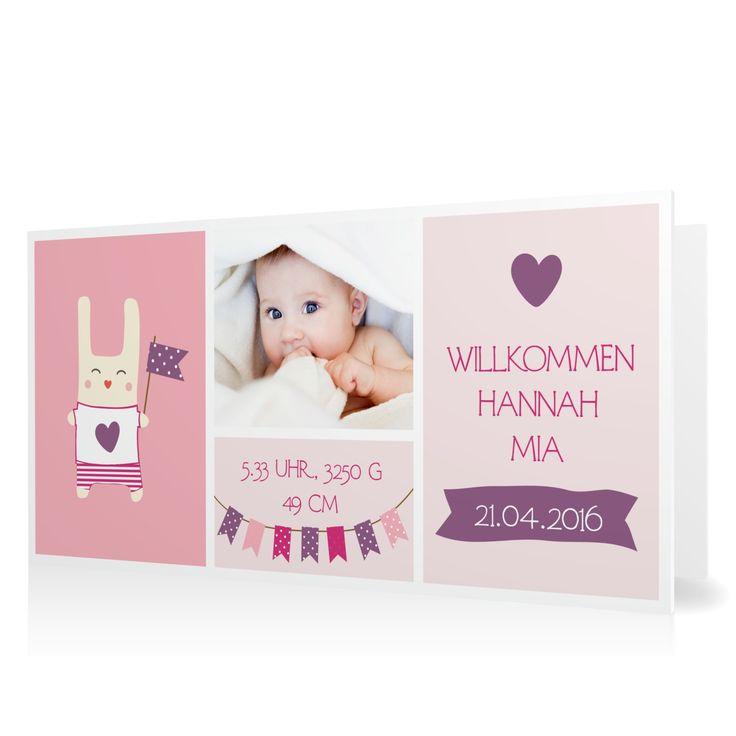 Geburtskarte Willkommen mit Wimpeln in Perle - Klappkarte flach lang #Geburt #Geburtskarten #Mädchen #Foto #kreativ #modern https://www.goldbek.de/geburt/geburtskarten/maedchen/geburtskarte-willkommen-mit-wimpeln?color=perle&design=f7f75&utm_campaign=autoproducts
