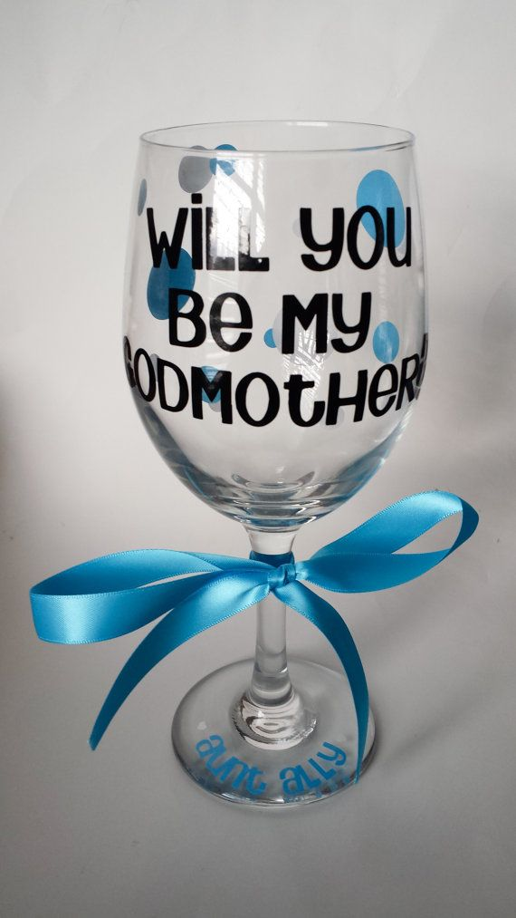 Will you be my godmother Ask godmother by TwoWinosDesigns on Etsy