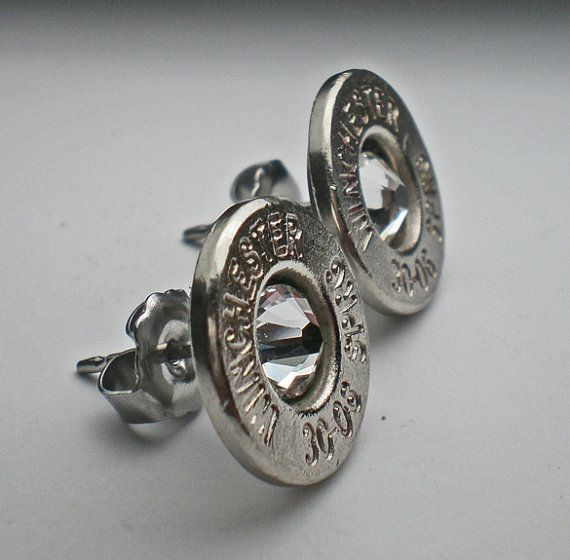 Winchester bullet earrings! I would love these in my October birthstone pink or white clear crystal!