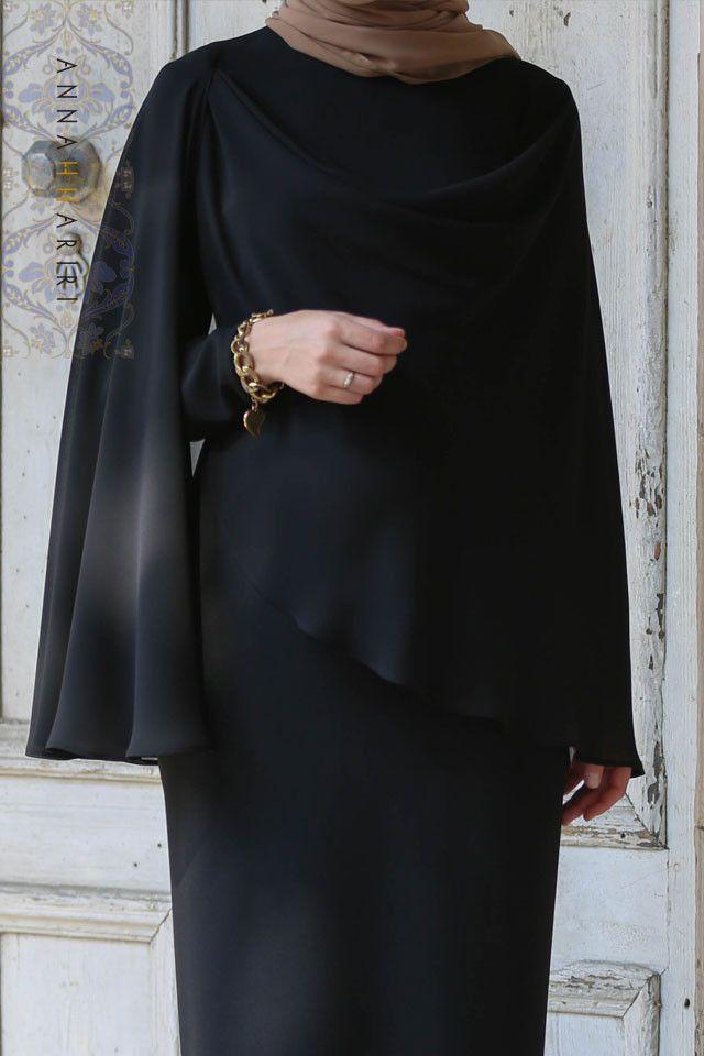 cape dress black