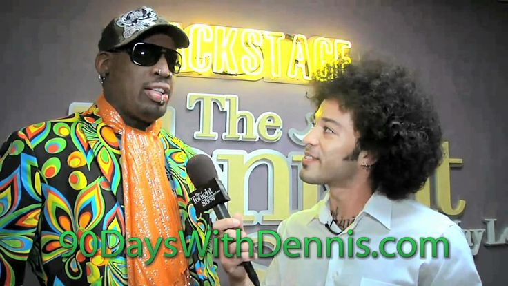 Dennis Rodman promotes his Body by Vi website backstage on The Tonight S...