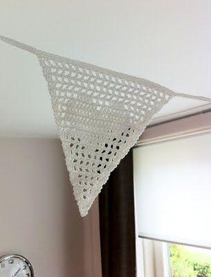 crochet heart bunting inspiration :)