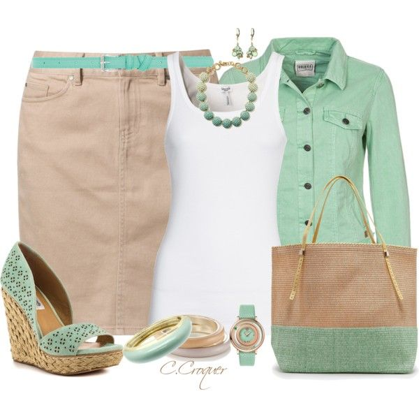 """""""Mint Watch"""" by ccroquer on Polyvore"""