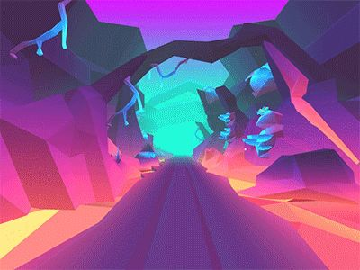 low poly lava level