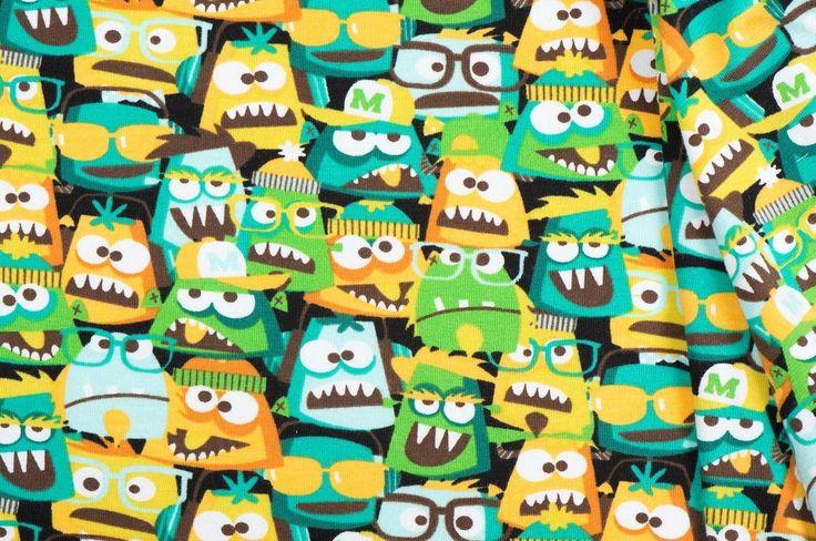 Magnificent Monster Tricot Groen van het merk B* Inspired by Poppy. Stoffen Online biedt een breed assortiment en levert direct uit voorraad.