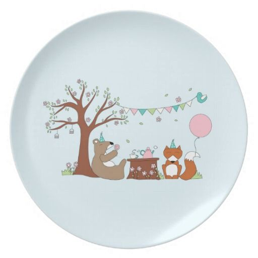 Celebration Party Plates illustrated by Kathrin Legg