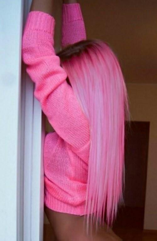 dark new growth on pink