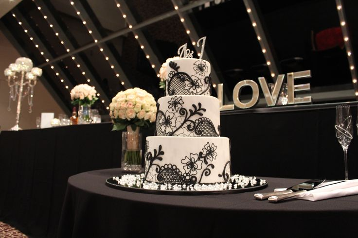 Classic decor to contrast a modern themed bridal table