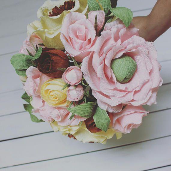 Colourfull Bride New DESIGN Wedding Bouquet Rustic high