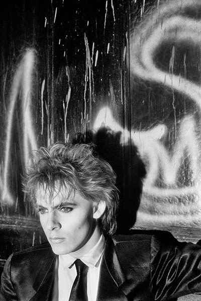 Credit: Denis O'Regan Nick Rhodes on a fire escape in New York City 1984. Grab a location when you can!