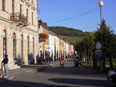 Straßenszene in Spišské Podhradie