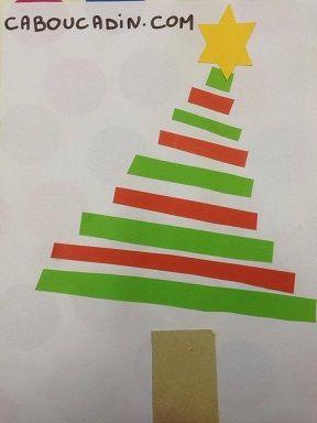 Faire un sapin avec des bandes de papier christmas - Bricolage sapin de noel en papier ...