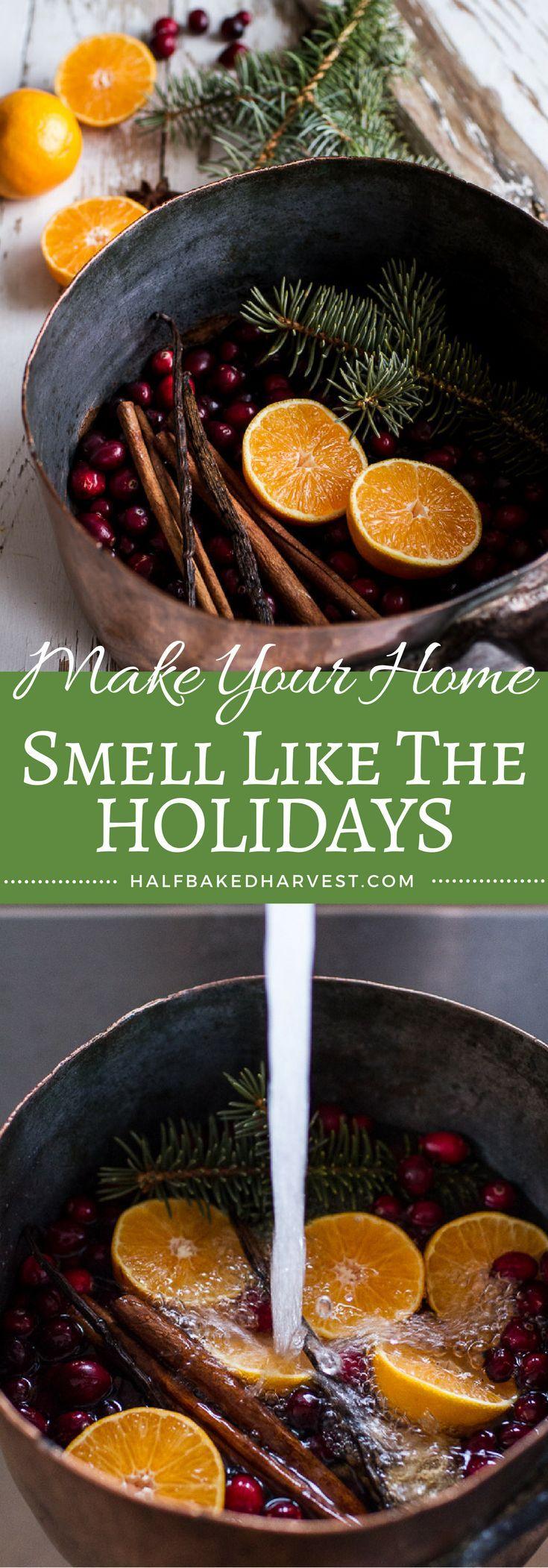 Homemade Holidays- Let's Make the House Smell Like Christmas   http://halfbakedharvest.com /hbharvest/
