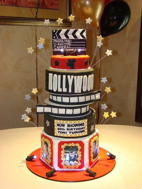 Old Hollywood theme cake by sweetcakesbyrebecca, via Flickr