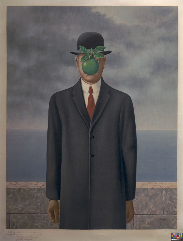 The Son of Man, René Magritte, 1964. Oil on canvas.