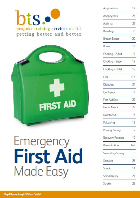 #Emergency #First #Aid Made #Easy is a quick #reference #guide to emergency first aid #procedures. Written by an experienced aramedic and First Aid #instructor, the #book contains simple, accurate information. It has also been updated with the latest CPR guidelines and BS-8599 first aid kit information. Find out more at http://www.bespoketrainingservices.com/fabook.html